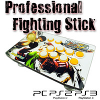 action arcade - New Fighting Stick Crystal ball Stick Action Buttons Arcade Joystick Compatible with PC PS2 PS3