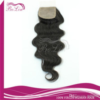 Cheap New Arrival Silk Base Closure Middle Part Free Part 5A Virgin Brazilian Body Wave hair 1pcs