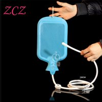 Wholesale 2000ml Large Porous Enema Water Bag Shower Type of Intestinal Cleaner Vaginal Washing Anal Sex Toys Adult Sex Toys DX539