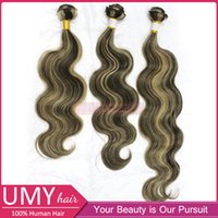 Cheap Sale Hair Grade 5A Brazilian Remy Hair Body Wave P8 613 Piano Color Remy Human Hair Honey Brown And Blonde Human Hair Extensions