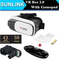 Wholesale 2016 Google Cardboard VR BOX II Version VR Virtual Reality D Glasses For inch Smartphone Bluetooth Controller Gamepad