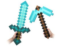 Wholesale New Minecraft Toys Sword Pick Axe Gun Minecraft Game Props Model Toys Kids Toys Birthday Christmas Gifts inch