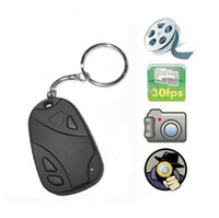 Wholesale Mini Camcorders spy car keys Car Keychain Spy Hidden camera Video Recorder Camcorder for TF SD card without Retail Box