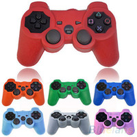 Wholesale Silicone Protective Skin Cover Wrap Case for Playstation PS3 Controller Gamepad KAC