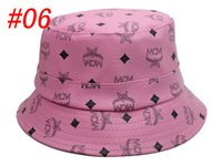 Wholesale 2015 Newest Pink MCM bucket hats for man and woman Fashion Fisherman hats caps women winter hats