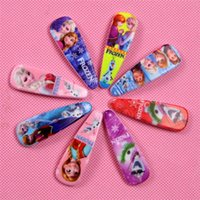 Wholesale 2015 Cartoon Hairpins cm Elsa Anna Cinderella Ariel Tangled Barrettes Baby Hairclip Cute Princess Children Girl Jewelry