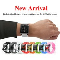 Wholesale iwatchz Q new iWatchz wrist watch band strap For iPod Nano mp4 player with Retail box High Quality