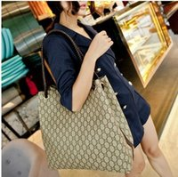 Wholesale classic fashion plaid print handbag bucket bag large capacity PU leather women shoulder bags brand designer