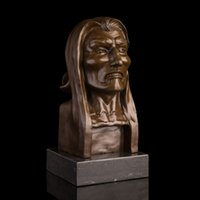 brass statue - Best selling Brass Figure sculpture Struggle Man Bust Bronze Figurines Statue Studio Decoration