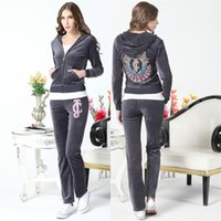 brand velour tracksuits - 2015 new High Quality long sleeve sweatshirts jogging velet tracksuits for ladies J C brand sweat suits velour zipper sportswear hoodies