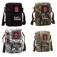 Wholesale Men s Camouflage Vintage Casual Canvas Sling tactical series Military Shoulder Bag Messenger Hiking Satchel LJJK01