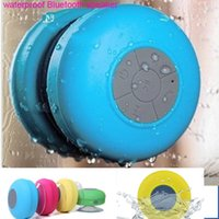 Wholesale 2015 New Portable Waterproof Wireless Bluetooth Speaker Shower Car Handsfree Receive Call Music Suction Phone Mic Promotion