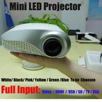 <25 dB av tv tuner - Free DHL lumens D Mini projector LED Electric Zoom Portable Video Pico Micro Mini Projector HDMI USB AV VGA TV Tuner Tripod