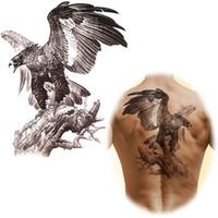 Wholesale x cm Big Temporary tattoo stickers waterproof men s large eagle tattoo totem arm back sticker MQB12