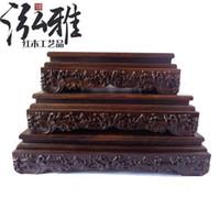antique wood carvings - Black Azusa mahogany wood crafts wood base rectangular base flowerpot rocks grade wood carvings antique ornaments