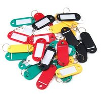 Wholesale Doorplate tag card badge holder key ring chain name tag card key Luggage tag card portable plastic tag card JJ11242