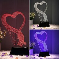 Wholesale LED Night Light Deco Table Lamp heart