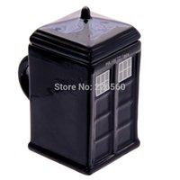 Wholesale EMS Pieces Doctor Who Tardis Mug Ceramic Mug With Removable Lid