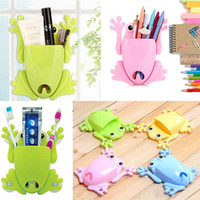 bathroom storage mirrors - 1 X Pen Pack Toothbrush Storage Organizer Mirror Frog Suction Sticker Paste Holder