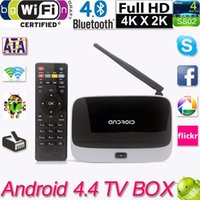 Wholesale 1080P RK3188T Android TV Box Player Quad Core GB GB WiFi Set Top Box with Remote Control EU Plug CS918 Tv Receivers