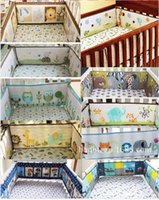 baby cribs safety - 2016 year cotton More Styles D embroidery animal flower patterns baby bedding Pieces bed around Safety protection Bumper A