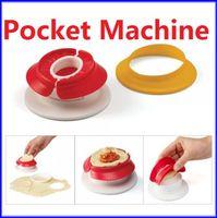 Wholesale Brand New Mini Pocket Maker Machine Manual Dumpling Pie Ravioli Mould Dough Presses Pastry Tools