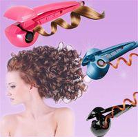 Wholesale Designer Professional Curling Irons Superior Fashion Ceramic Hair Curlers Auto Shut Off Function m Swivel Cord Hot Sale