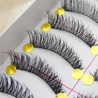 beauty hands charmed - hot sale10Pairs Hand made fashion charming eye lashes False Eyelashes Natural Long Thick Beauty Health Makeup