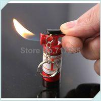 Precio de Fire extinguisher-Al por mayor-libres del envío 30pcs / lot Mini extintor llavero encendedor de encendedores de butano con llavero (sin gas)