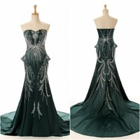 Reference Images amazing samples - Real Sample New Arrival Luxury Amazing Green Evening Dress Mermaid Sweetheart Court Train Heavily Beading Prom Gown
