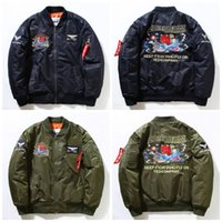 Wholesale Men coat KANYE WEST MA1 jackets limit edition black green colors flight parkas BOMBER Confederate Rebel Civil War Flag Jacket E334J