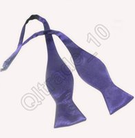 Wholesale 10lot CCA3499 High Quality Men By Hand Freely Bowtie Solid Color Self Bowties Calabash Bowtie Business Necktie Christmas Gift