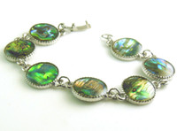 Wholesale Abalone Shell beads Round vintage chain Bracelet quot cm YXBN15