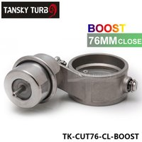 Wholesale Tansky High performance NEW Boost Activated Exhaust Cutout Dump MM CLOSED Style Pressure about BAR TK CUT76 CL BOOST