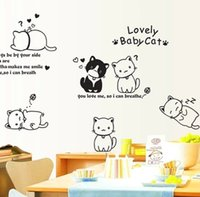 american classics cabinets - Wall stickers can remove the bedroom of children room dormitory decorative stickers The refrigerator cabinet cartoon cat stickers