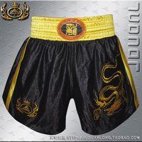 Wholesale Quality letter muay thai shorts embroidery satin boxing pants shorts free combat pants muay thai shorts sanda service