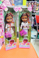 animated figures - Game Doc McStuffins Clinic Doll Toy Clothes Shoes Box Packing Girl Kid Gift Animated toys little doctor Doc McStuffins Doctor toy KT01
