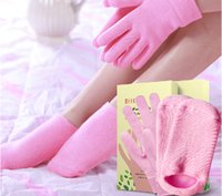 Wholesale Antifreezing Spa Gel Socks Anti Crack Exfoliating Moisturizing Gloves Gel Spa Emollient Skin Care Tools