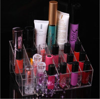 Wholesale Cosmetic Display Makeup Stand Transparent Lipstick Jewelry Box Storage Rack Case Organizer Holder Trapezoid girl like