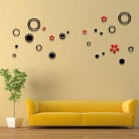 abstract flower backgrounds - Creative Green Living Room TV Background Wall Stickers Flower Background Colored Circles Wall Stickers