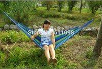 Cheap Wholesale 10pcs Super big size 280x80cm camping hammock swing outdoor thickening canvas hammock casual single double bearingmn2
