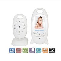 Wholesale CCTV Cameras quot LCD Video Baby Monitor GHz ft Long Range Two Way Talk Back Lullabies Night Vision Temperature Monitoring