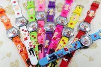 Casual animations quartz watch - 2pcs new froze silicone belt Jelly watch Waterproof noctilucent animation cartoon children watch
