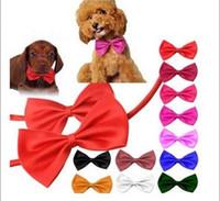 Wholesale New Trend Cute Dog Cat Pet Multi Colour Bow Tie Cute Necktie Collar decorations Colors