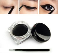 cream eye liner - New Beauty Waterproof Eyeliner Shadow Gel Eye Liner Makeup Cosmetic Brush Black in a box T95