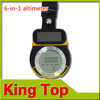 Wholesale 6 in Solar Power Multifunctional Digital Altimeter Barometer Thermometer Compass Weather Forecast Time Black