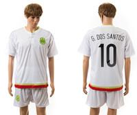 México nuevo jersey de fútbol #10 G. DOS SANTOS tailandia diseñador de uniforme de fútbol de los hombres de atletismo al aire libre de la ropa de manga corta de verano de deportes kits