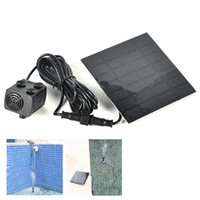Wholesale Soar Pump Water Pump Aquarium Pumps Pond Pool Water Cycle Garden Plants Watering Kit Solar Power Fountain