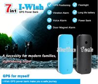 banks power canada - Portable Position Tracker Power Bank Real Time Sound Vibration Alarm with LED Light Mini GPS Tracker V20