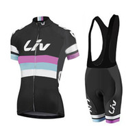 pink jersey - Short Sleeve Cycling Jersey Team LIV Cycling Clothing Bib Shorts Set for Women Mujer Maillot Roupa Ciclismo Bike Wear
